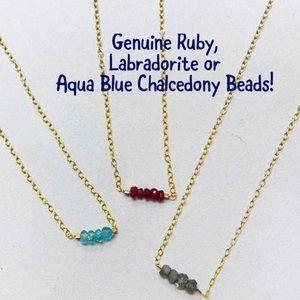 Jewelry - Dainty Semi-precious Gemstone Bead Necklaces, NWT